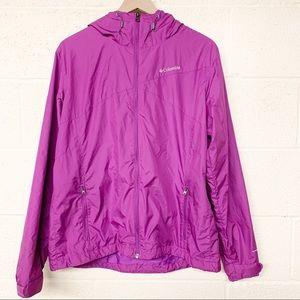 Columbia purple pink Omni shield rain jacket XL